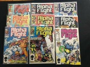 ALPHA FLIGHT  V1 [LOT OF 9, #'s 21-28,36] MARVEL 1983 - 1986 / NM  CONDITION