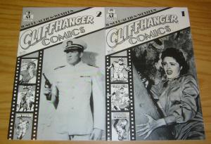 Cliffhanger Comics #1-2 FN complete series - nyoka the jungle girl - tom mix set