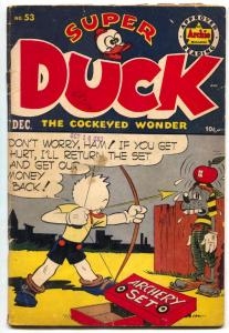 Super Duck #53 1953- Golden Age Archie Funny Animals- VG