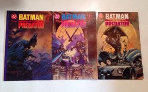 Batman Versus Predator 1-3 VF/NM