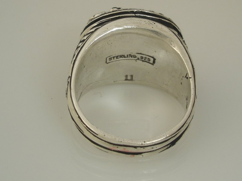 Buffalo Coin ring sterling silver