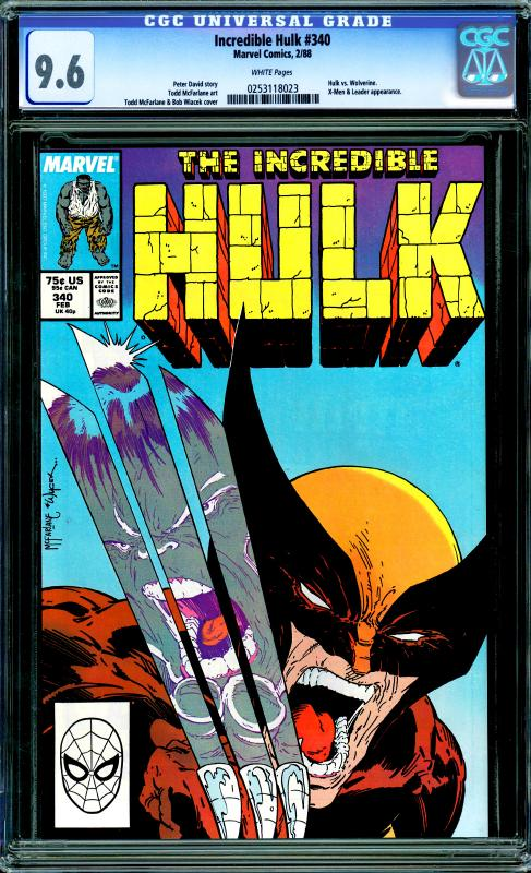 Incredible Hulk #340 CGC 9.6 (Hulk vs. Wolverine)