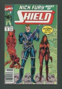 Nick Fury Agent of Shield #12  /  9.2 NM-  / June 1990