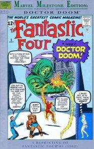 Marvel Milestone Edition Fantastic Four #5, VF+ (Stock photo)