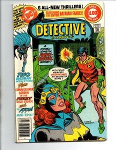 Detective Comics #489 newsstand - Batman - Batgirl - Robin - 1977 - VF