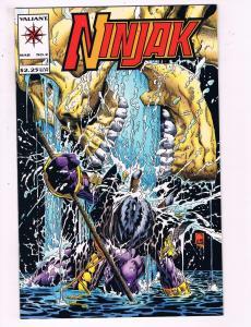 Ninjak #2 VF Valiant Comics Comic Book March 1994 DE18