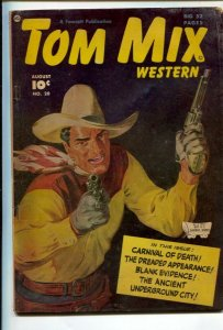 Tom Mix Western #20 1949-Fawcett-Norman Saunders painted cover-Carl Pfeufer s...