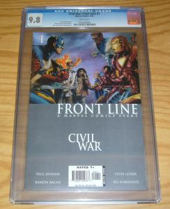 Civil War: Front Line #1 CGC 9.8 marvel's avengers - captain america vs iron man