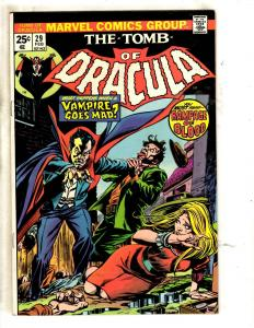 Tomb Of Dracula # 29 NM- Marvel Comic Book Horror Fear Vampire Monster TW64