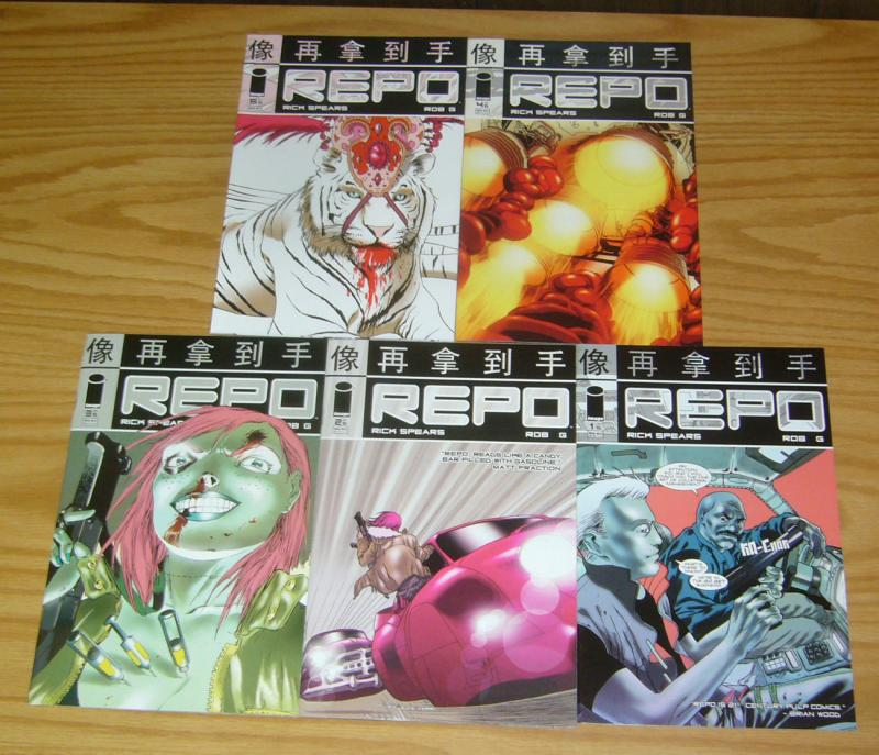 Repo #1-5 VF/NM complete series - image comics - rick spears - 21st century pulp