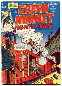 Green Hornet #41 1948-Harvey- Mary Worth- Train robbery VG