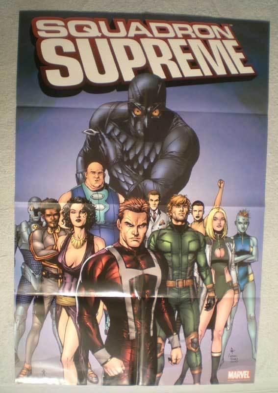 SQUADRON SUPREME Promo Poster, 24x36, 2006, Unused, more Promos in our store