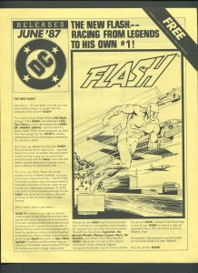 DC Releases Promotional Flyer #37  / Flash /  June 1987