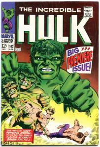 HULK #102, VF-, Incredible, Origin, George Tuska, 1968, more Hulk in store,Smash