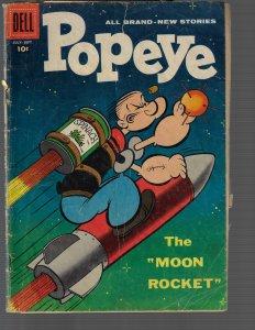 Popeye #45 (Dell, 1958) GD