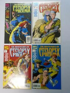 Adventures of Cyclops and Phoenix, Set:#1-4, Average 8.5/VF+ (1994)