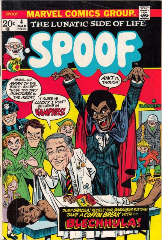 Spoof #4 (Mar-71) VF/NM+ High-Grade Dracula, Marcus Welby M.D.