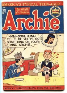 ARCHIE #40 comic book-1949-ICE CREAM COVER Veronica