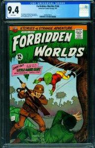 Forbidden Worlds #144 CGC 9.4 1967- 1st Little Green Man-2039575014