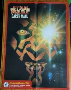 22 x 30 Star Wars Darth Maul 2000 Dark Horse Promo Poster NO PIN HOLES
