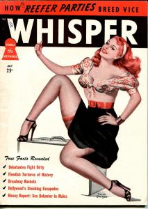 Whisper 7/1948-Harrison-Peter Driben cover-reefer parties-torture-spanking-FN+