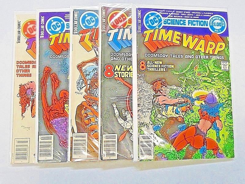 Time Warp set #1 to #5 - see pics - 7.0 to 8.0 - 1979 to 1980