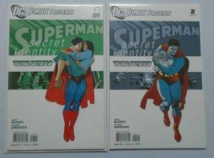DC Comics Presents Secret Identity Superman set of #1 & #2 8.5 VF+ (2011)