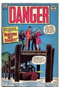 DANGER #15 1964-SUPER COMICS-ANTI-COMMIE SPY STORIES-IRON CURTAIN-good/vg