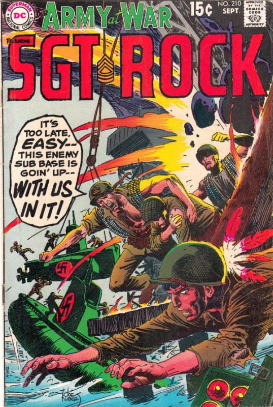 Our Army at War #210 (Sep-69) FN+ Mid-High-Grade Easy Company, Sgt. Rock
