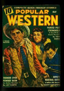Popular Western May 1943- Sheriff Blue Steele- Bufallo Billy -FN
