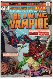 FEAR 24  1st meeting of   Blade and Morbius KEY   (aka Adventures into FEAR)
