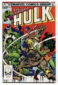 Incredible Hulk #282-comic book 1st SHE-HULK / HULK team-up
