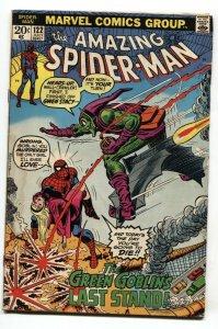 Amazing Spider-man #122 comic book 1973- Death of Green Goblin Key issue G