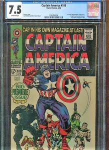 CAPTAIN AMERICA  #100  CGC 7.5  OW PAGES (1968)  HIGHER GRADE