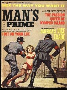 Man's Prime 7/1963-Brutal Nazi execution cover-GGA-Lingerie
