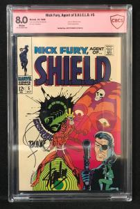 Nick Fury #5  (Marvel, 1968) CBCS 8.0 ver sigs of Steranko & Stan Lee