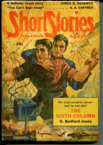 Short Stories 8/25/1940-Doubleday-pulp stories-Murray Leinster-war issue-VG+