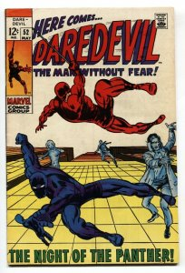 Daredevil Comics #52  Black Panther- Barry Smith 1969 FN+