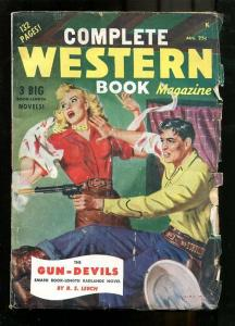 COMPLETE WESTERN PULP-1949-AUG-SPICY GOOD GIRL ART COVR VG