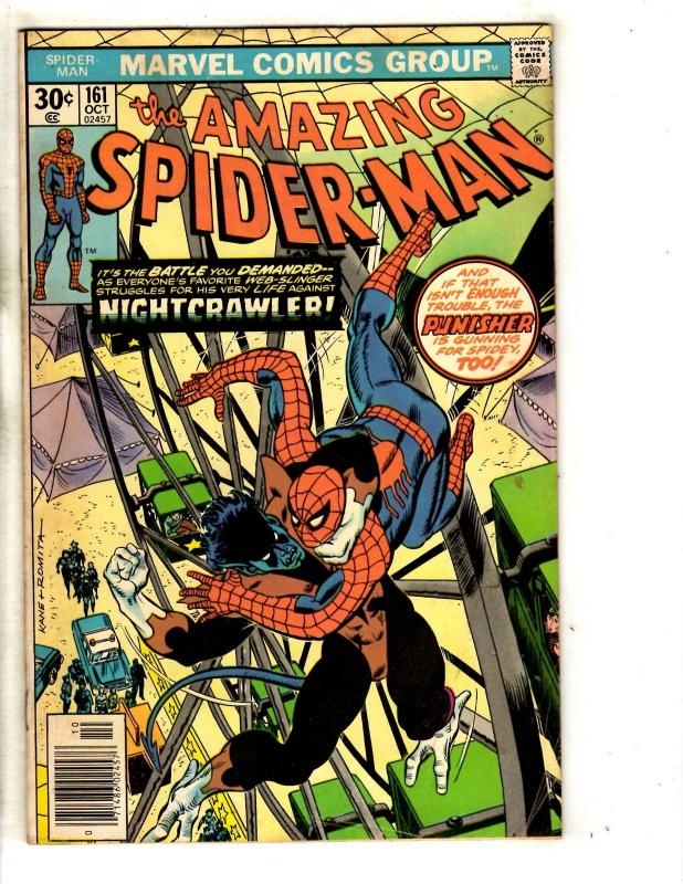 Amazing Spider-Man # 161 FN Marvel Comic Book Green Goblin Vulture Mary J JG9
