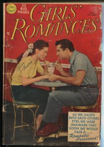 Girls' Romances #5 1950-DC-ice cream-soda shop-spicy poses-outstanding art-G+