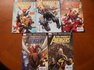 5 Near-Mint Marvel Comic: AVENGERS THE INITIATIVE #1 2 4 5 6 (2007) Bendis Cho