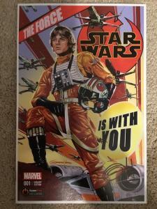 Marvel Star Wars  1 GameStop Variant * Signed By Greg Horn *
