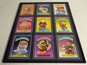 Garbage Pail Kids Framed 16x20 Display Weird Wendy New Wave Dave Potty Scotty
