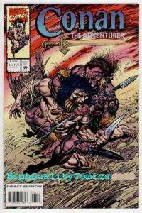 CONAN the ADVENTURER #4, NM+, Robert Howard, 1994, Sword, Sorcery