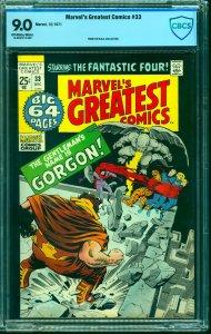 Marvel's Greatest Comics #33 CBCS VF/NM 9.0 Off White to White