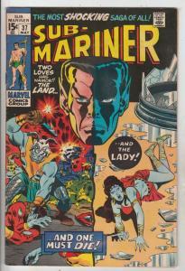 Sub-Mariner #37 (May-71) FN Mid-Grade Sub-Mariner (Prince Namor)