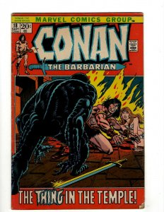 Conan The Barbarian # 18 FN Marvel Comic Book Barry Smith Kull King Sword NP16