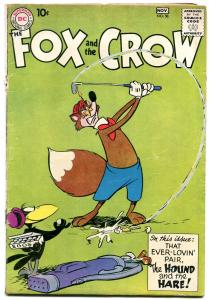 The Fox and the Crow #58 1959- DC Funny Animals- Golf cover VG