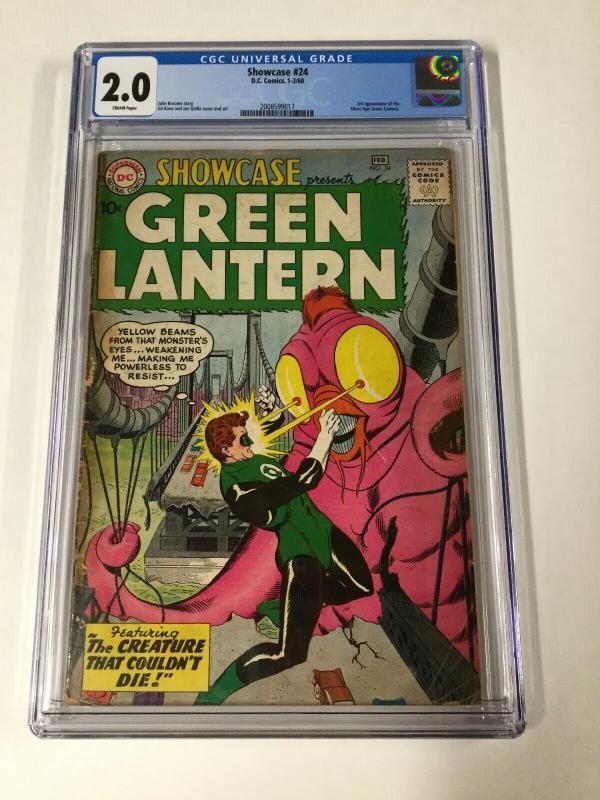 Showcase 24 Cgc 2.0 3rd Green Lantern Dc Comics